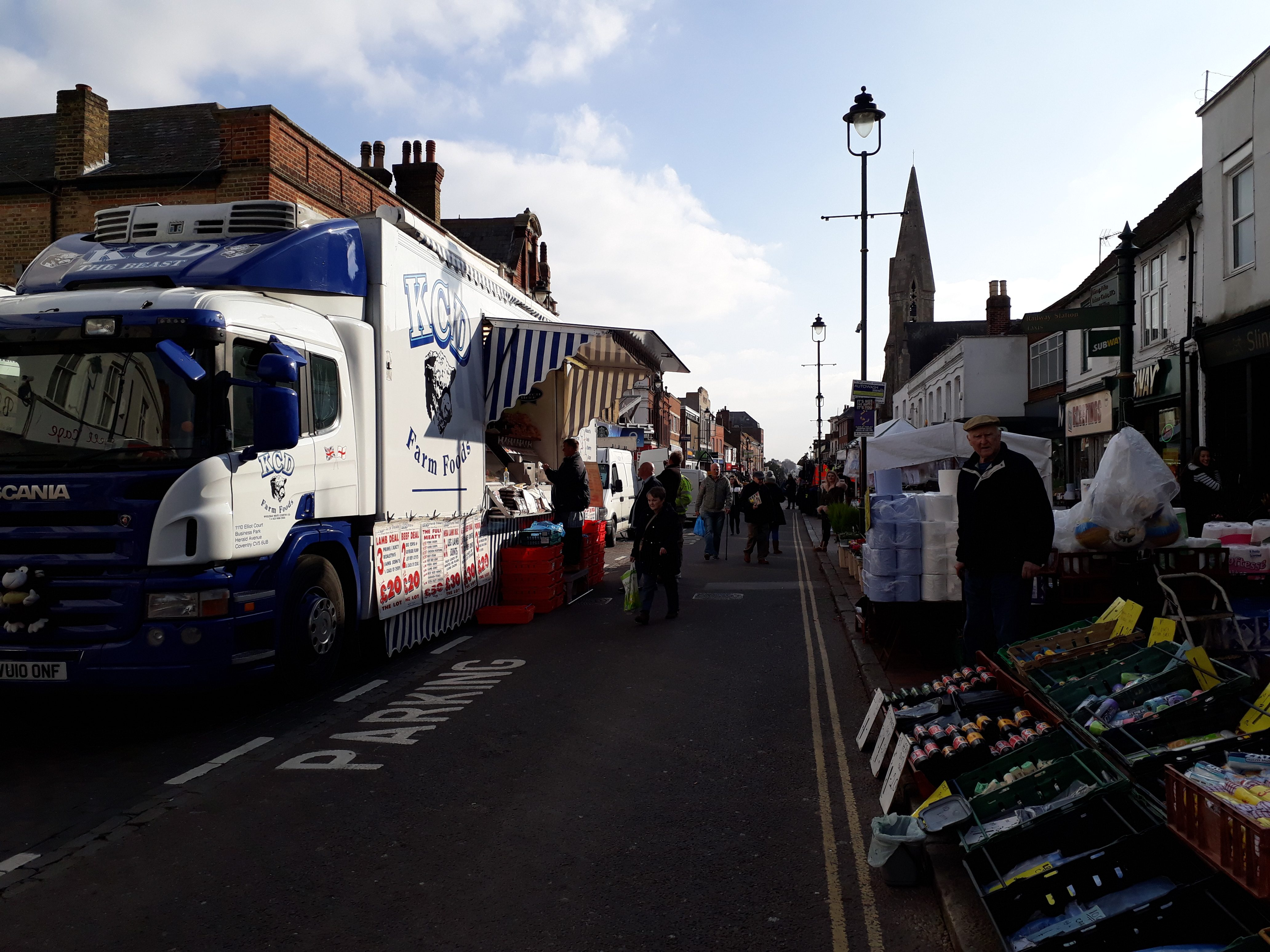 Sittingbourne Market on a Friday in the High Street