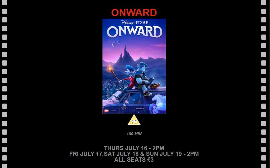 Onward at the New Century Cinema