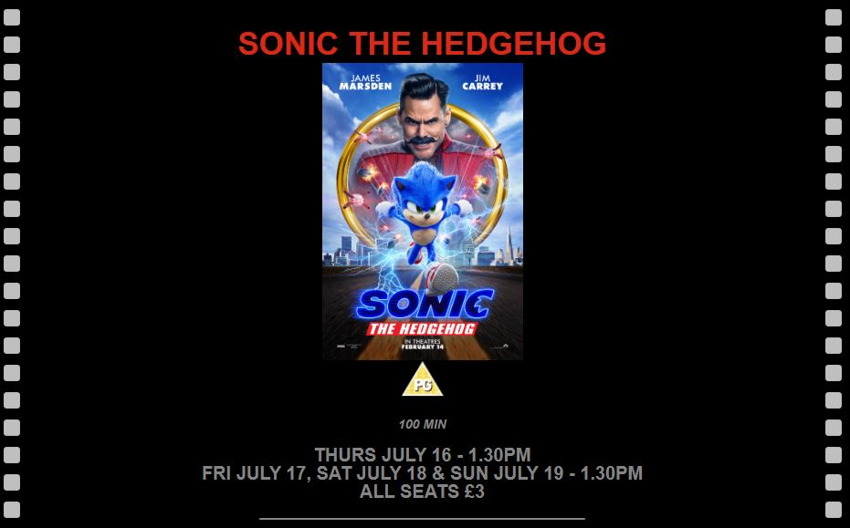 Sonic the Hedgehog at New Century Cinema